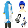Picture of Vocaloid Kaito cosplay costume && Headphone && Wig