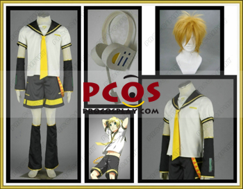 Picture of Vocaloid Len Cosplay Costumes && Headphone && Wig