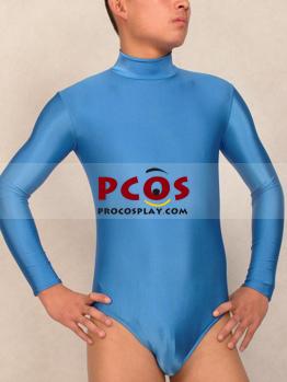 Picture of Azure Blue Conjoined clothes Lycra Spandex Zentai Suit A042