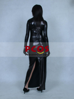 Picture of Black Sexy Dress Shiny Metallic Unisex Zentai Suit B020