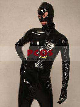 Picture of Black PVC Catsuit Shiny Metallic Zentai Suit B067