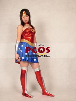 Picture of Wonder woman Catsuit  Shiny Metallic  Zentai Suit C072