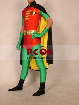 Picture of Batman Robin Cloak Version Lycra Spandex Zentai Suit C181
