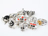 Picture of One Piece Rings of Skull and Flag 10 Sets for Cosplay