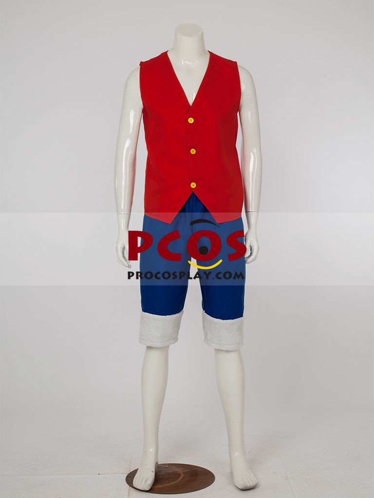 One Piece Monkey D Luffy Simplified Cosplay Costume Mp002564