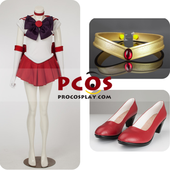 Picture of Sailor Moon Sailor Mars Hino Rei Cosplay Costume