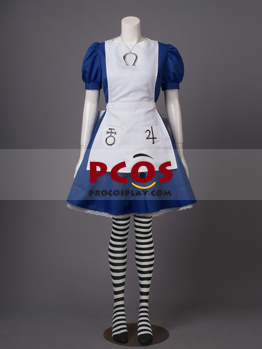 Picture of Alice: Madness Returns Classic Dress Cosplay Costume With Weapon Y-0548