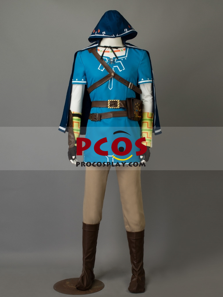 The Legend Of Zelda Breath Of The Wild Link Cosplay Costume Mp003467
