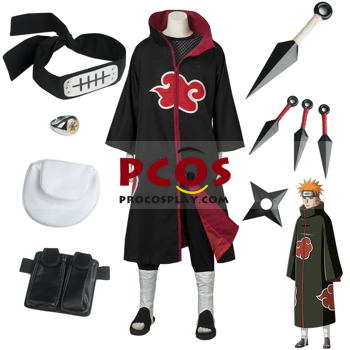 Picture of Naruto Akatsuki Organization Pein Pain  Cosplay Outfit Set mp004252
