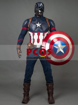 Picture of Ready to Ship 101 Size Endgame Captain America Steve Rogers Cosplay Costume with Helmet mp004310