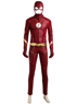 Picture of The Flash Season 4 The Flash Barry Allen Leather Hood Version Cosplay Costume mp005135