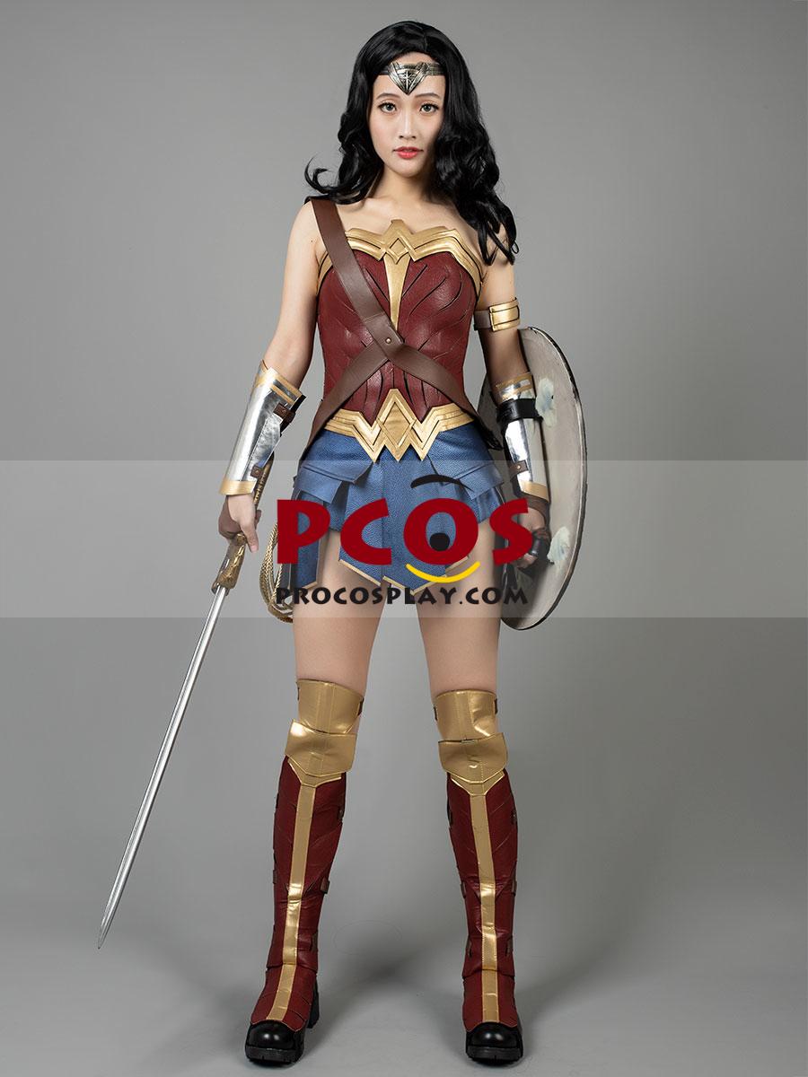 US SHIP Woman Diana Prince Adult Dress Cosplay Costume