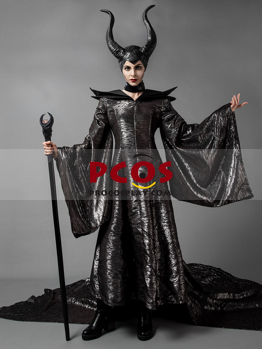 Picture of Ready to Ship New Maleficent Cosplay Costume With Horns Hat mp002741