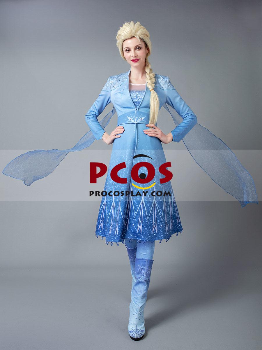 UK Seller New Frozen Princess Queen Elsa Fancy Dress costume cosplay Blue Gloves