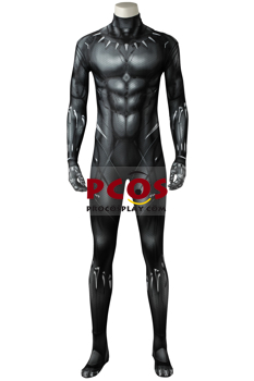 Picture of Ready to Ship Black Panther (2018) T'Challa Cosplay Costume 3D Jumpsuit mp005402
