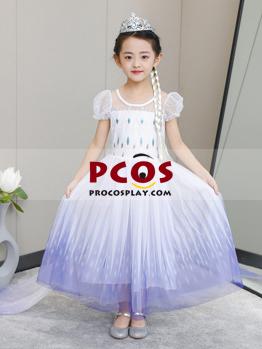 Picture of Ready to Ship Frozen 2 Elsa Spirit Dress Cosplay Costume For Kids mp005587