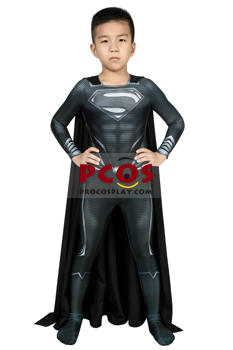 Picture of Ready to Ship Justice League Black Superman Clark Kent Cosplay Costume Only for Kids mp005680