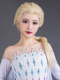 Picture of Frozen Snow Queen of Arendelle Elsa Light Gold Cosplay Wigs Upgraded mp005320