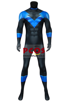 Picture of Ready to Ship Batman: Under the Red Hood Nightwing Dick Grayson Cosplay Costume 3D Jumpsuit mp005752