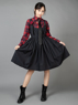 Picture of Ready to Ship Halloween Gothic Style Plaid Shirt & Jumper Skirt Suit mp005558