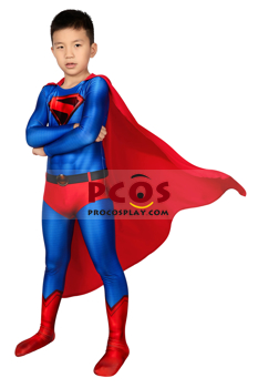 Picture of Crisis on Infinite Earths Superman Clark Kent Cosplay Jumpsuit For Kids mp006048