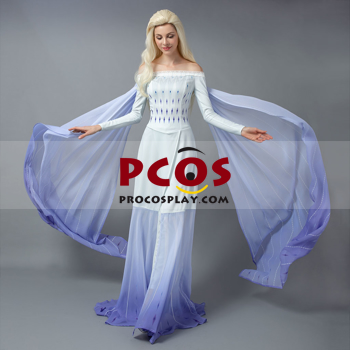 Picture of Ready to Ship Frozen 2 Elsa White Dress Cosplay Costume mp005306