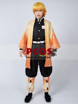 Picture of Ready to Ship Demon Slayer: Kimetsu no Yaiba Agatsuma Zenitsu Cosplay Costume mp005110
