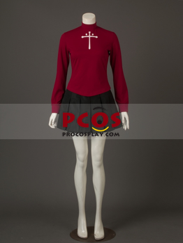 Picture of Ready to Ship The Holy Grail War Fate / Stay Night Tohsaka Rin Cosplay Costume mp002080