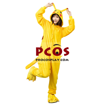 Picture of Ready to Ship Pikachu Coral Fleece Pajamas and Shoes mp005570