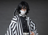 Picture of Demon Slayer: Kimetsu no Yaiba Iguro Obanai  Haori Cosplay Costume Upgrade Version mp006009