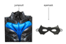 Picture of Titans Nightwing Dick Grayson Cosplay Costume 3D Jumpsuit for Kids C00508