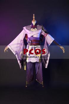 Picture of Genshin Impact Raiden Shogun Cosplay Costume Jacquard Version C00573
